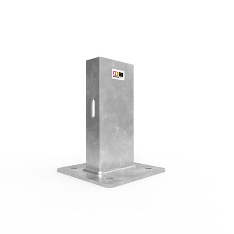 W-Beam Single Height Post 400mm Surface Mounted - Galvanised