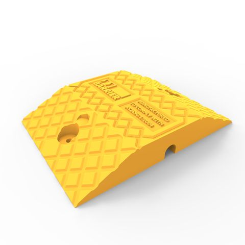 Economy Rubber Speed Hump Body 250mm - Yellow
