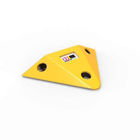 Slo-Motion Steel Speed Hump End Caps per pair - Yellow