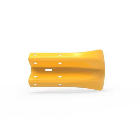 W-Beam Fish Tail End Terminal - Galvanised and Powder Coated Yellow