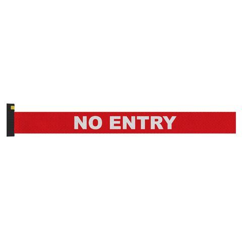 Screen Printed Red Belt with White Print - NO ENTRY