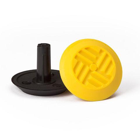 Warning Tactile Round Pack of 100 - Black TPU