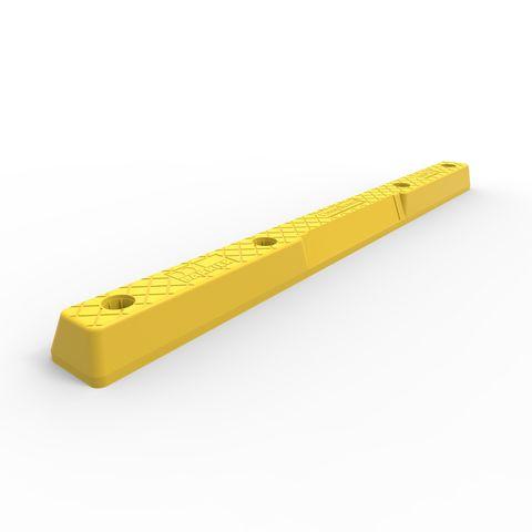 Compliance Wheel Stop - LLDPE - Yellow