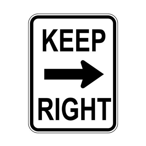 Sign - Keep Right with Arrow