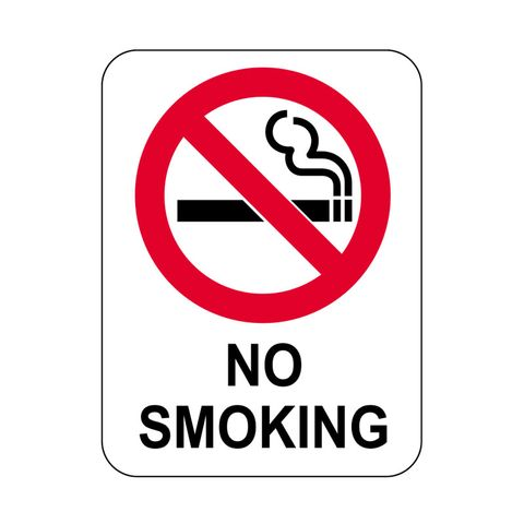 Sign - No Smoking with Symbol - Polypropylene