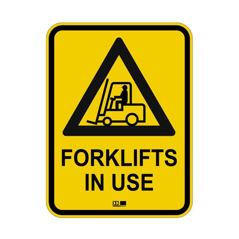 Sign - Forklifts in Use with Symbol - Polypropylene