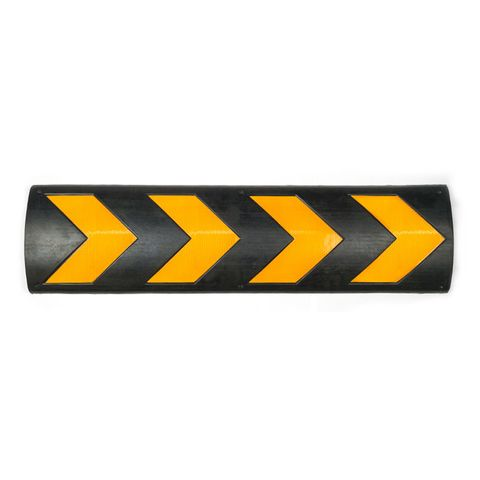 Wall Protector 800 x 220 x 32mm Black/Yellow - Recycled Rubber