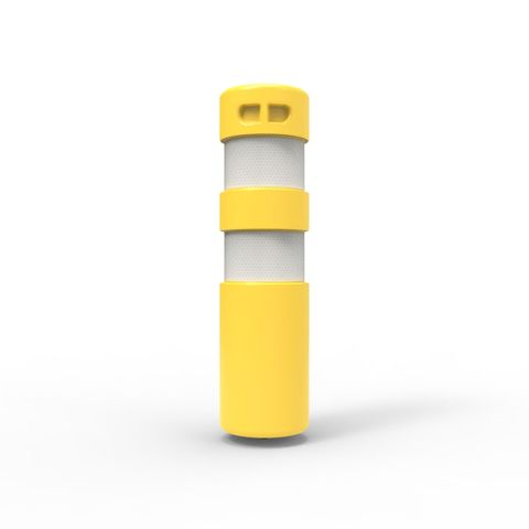 Rebound Bollard - Screw Based 750 x 200mm with Anchor - Yellow