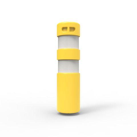 Rebound Bollard - Screw Based 750 x 200mm with Anchor - Yellow
