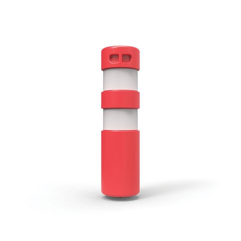 Rebound Bollard - Screw Based 750 x 200mm with Anchor - Red