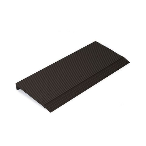 Stair Nosing 65 x 10 x 3620mm with Corrugated Surface - Black Anodised