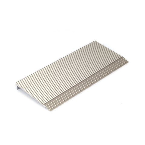 Stair Nosing 65 x 10 x 3620mm with Corrugated Surface - Natural Anodised