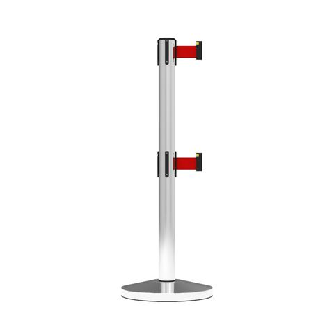 Neata Double Belt Post Midline Economy Stainless Steel - Red
