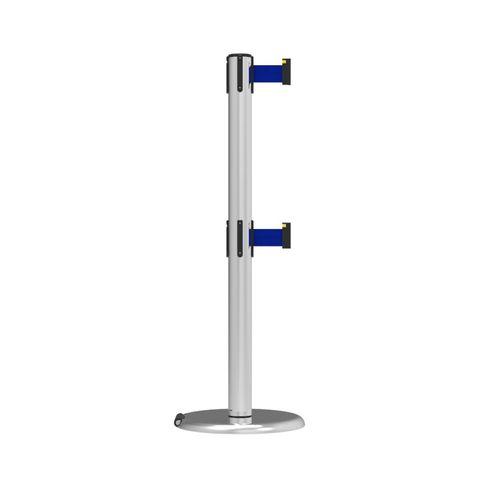 Neata Double Belt Post Roller Base Economy Stainless Steel - Blue