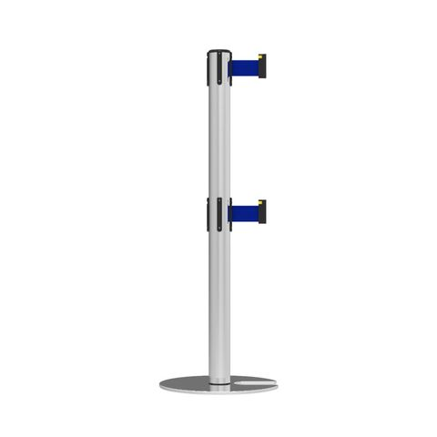 Neata Double Belt Post Stackable Base Economy Stainless Steel - Blue