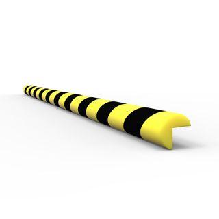 Anti Collision Strip 1m Polyurethane Black/Yellow - V Profile