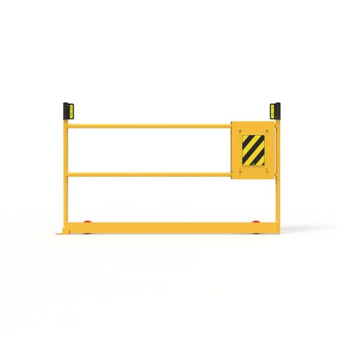 Ball Fence Roller Gate 1500mm Opening - Powder Coated Safety Yellow