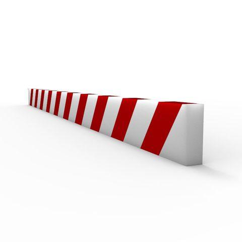 Anti Collision Strip 1m Polyurethane Red/White - Rectangular Profile