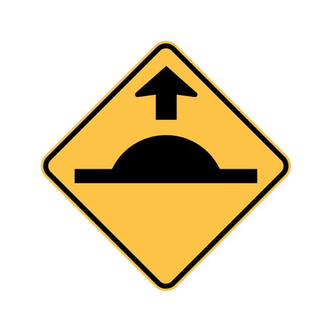 Sign - Speed Hump Ahead - 600 x 600mm - Aluminium