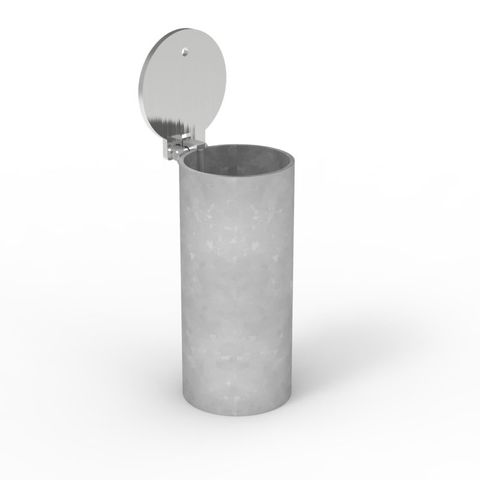 Cam-lok Removable Bollard 90mm Core Drilled Sleeve - Stainless Steel Lid