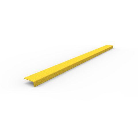 Anti-Slip Stair Nosing 1200 x 76 x 30mm - FRP Yellow