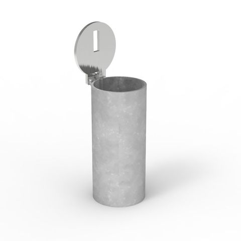 Sleeve-lok Removable Bollard 90mm Core Drilled Sleeve - Stainless Lid