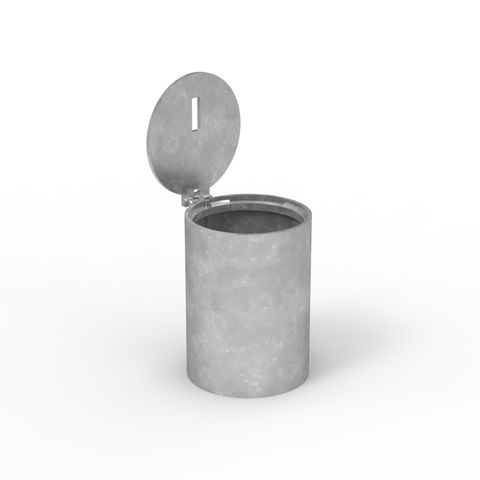 Sleeve-lok Removable Bollard 140mm Core Drilled Sleeve - Stainless Lid