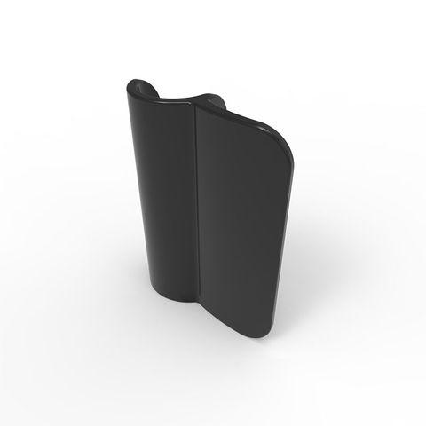 Ball Fence Gate Striker Plate - Plastic Black