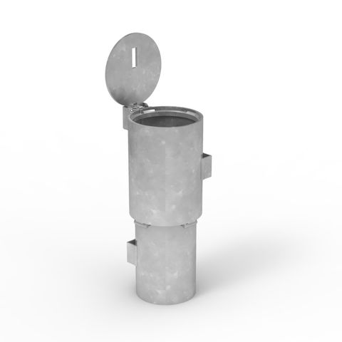 Sleeve-lok Removable Bollard 140mm New Concrete Sleeve - Stainless Lid