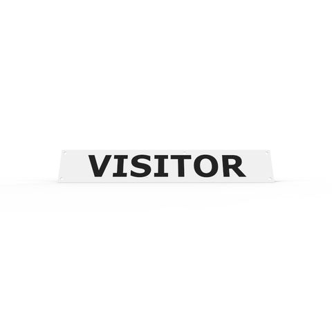Wheel Stop Sign - VISITOR