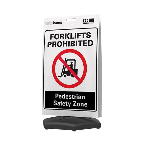Info-Board - Forklifts Prohibited Pedestrian Safety Zone