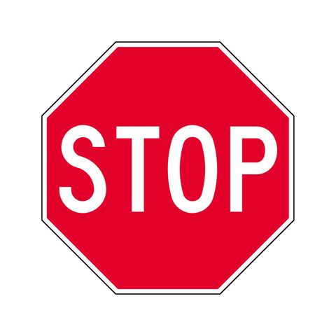 Sign - Stop - 600 x 600mm Octagonal - Aluminium