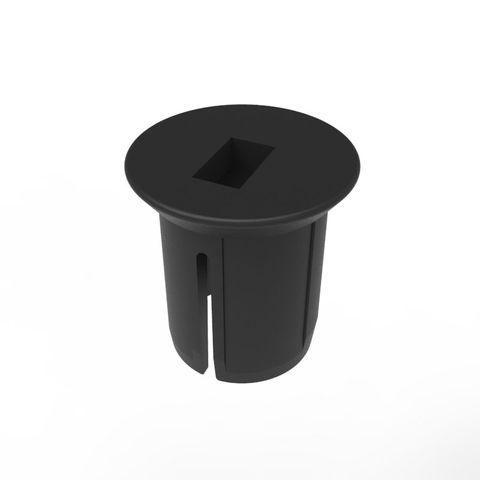 Neata Socket Cover Cap - Black Plastic