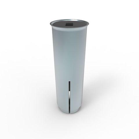 Neata Knock-In 80mm Flush Sleeve Zinc