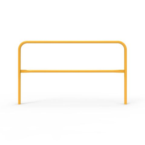 Double Safety Rail 1830 x 42mm - Galvanised and Powder Coated Safety Yellow