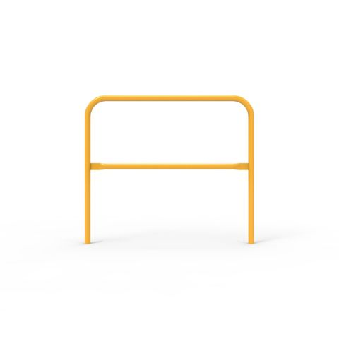 Double Safety Rail 1220 x 42mm - Galvanised and Powder Coated Safety Yellow