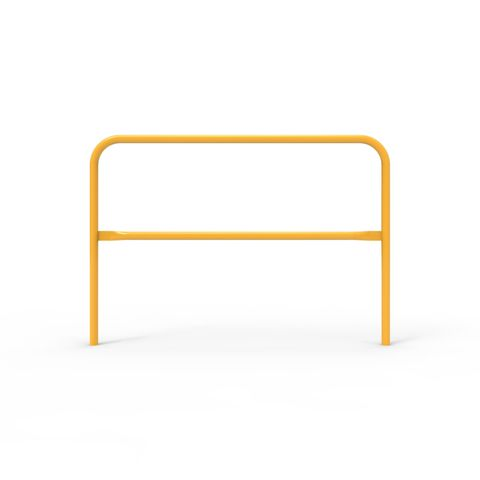 Double Safety Rail 1525 x 42mm - Galvanised and Powder Coated Safety Yellow