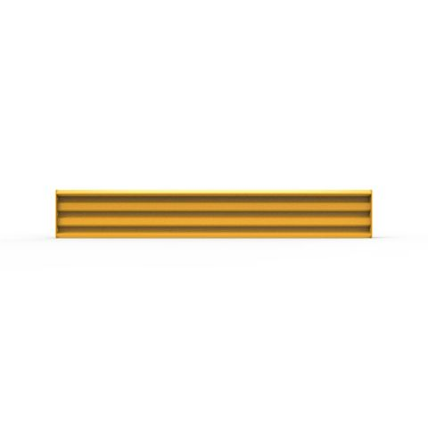 Rib-Rail 2440 x 380 Including Fixings - Powder Coated Safety Yellow