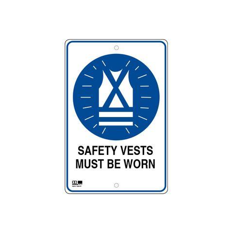 Pilot Sign - Safety Vests - 300 x 450 x 1.4mm Polypropylene