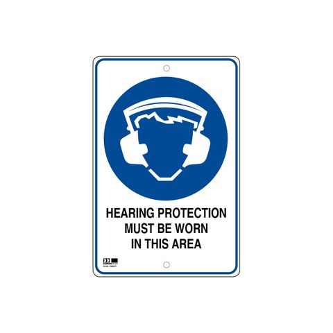 Pilot Sign - Hearing Protection - 300 x 450 x 1.4mm Polypropylene