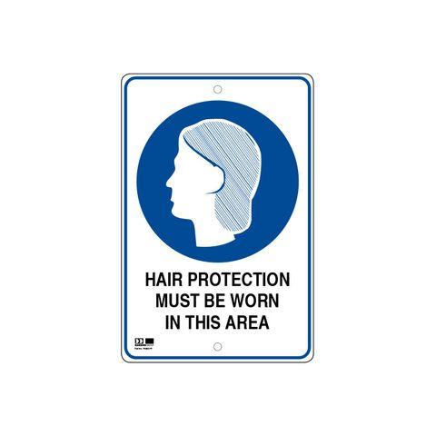 Pilot Sign - Hair Protection - 300 x 450 x 1.4mm Polypropylene