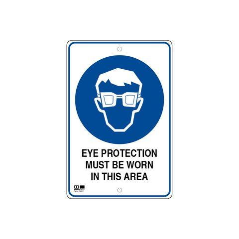 Pilot Sign - Eye Protection - 300 x 450 x 1.4mm Polypropylene