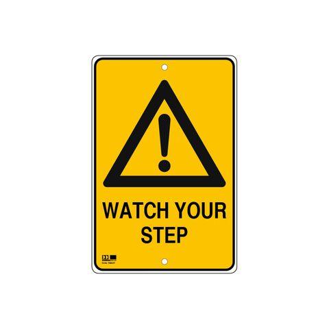Pilot Sign - Watch Your Step - 300 x 450 x 1.4mm Polypropylene