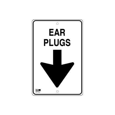Pilot Sign - Ear Plugs - 300 x 450 x 1.4mm Polypropylene