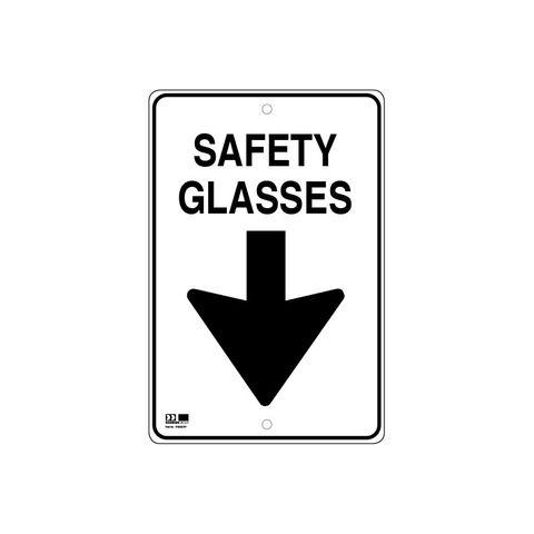 Pilot Sign - Safety Glasses - 300 x 450 x 1.4mm Polypropylene