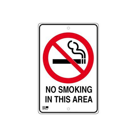 Pilot Sign - No Smoking - 300 x 450 x 1.4mm Polypropylene