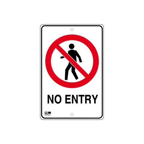 Pilot Sign - No Entry - 300 x 450 x 1.4mm Polypropylene
