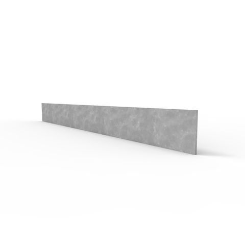 Ball Fence Toe Board 100 x 6mm x 6m - Galvanised