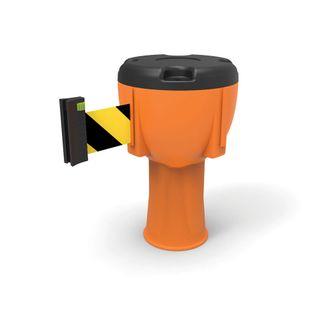 9 metre Retractable Barrier Black/Yellow Belt