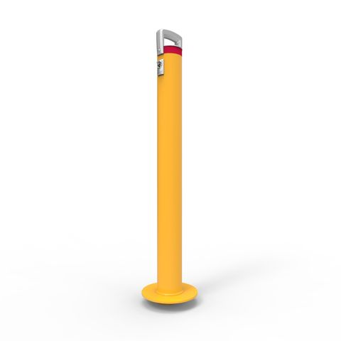 Cam-lok Surface Mounted Removable Bollard 90mm Economy Lock - Galvanised and Powder Coated
